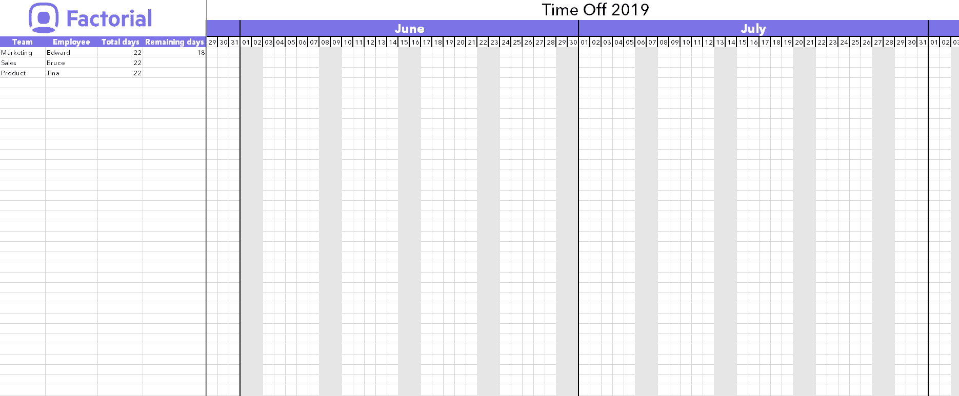 Calendario In Excel 2020.Managing Holidays And Time Off Requests With Excel Template
