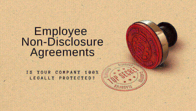 employee confidentiality agreements
