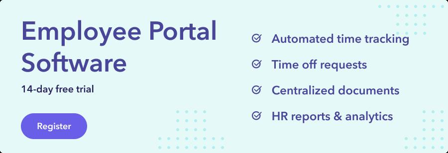 Employee portal banner